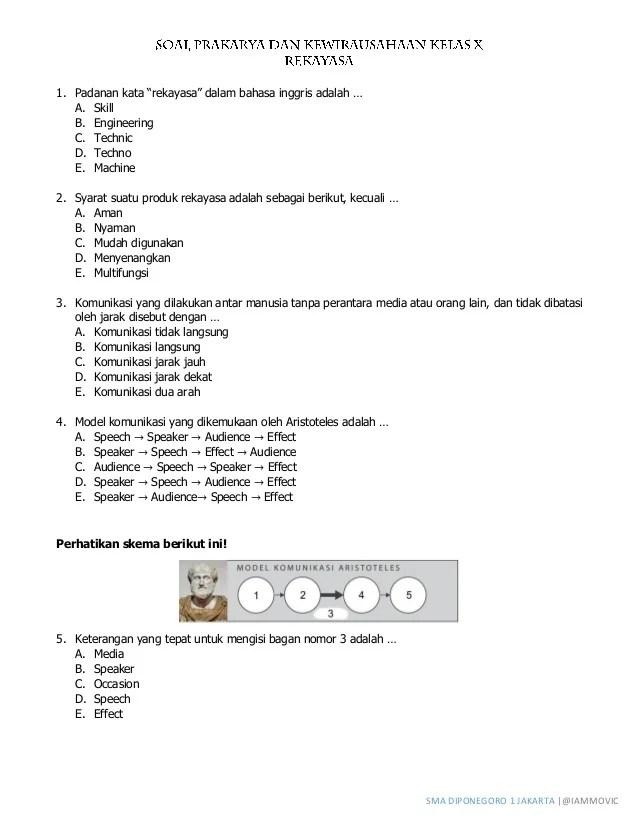 Soal Prakarya Kelas 10 : prakarya, kelas, Contoh, Prakarya, Kelas, Semester, Terbaru