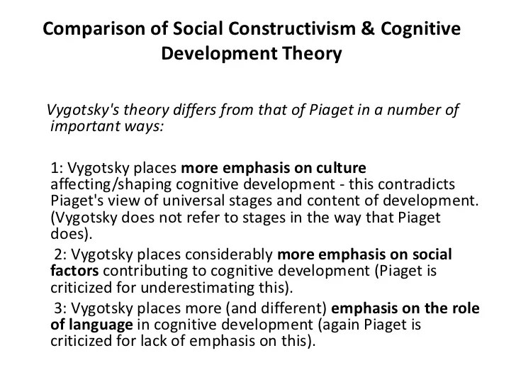 Social Constructivism & Cognitive Development Theory