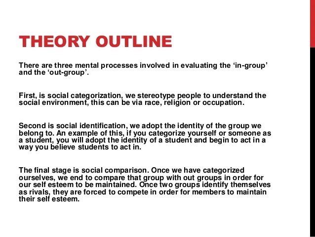 Racism Outline Examples