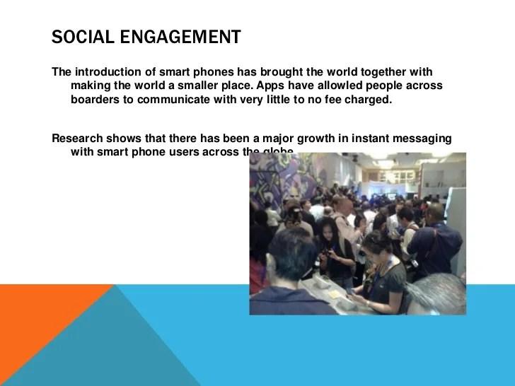 Social impact of smart phones