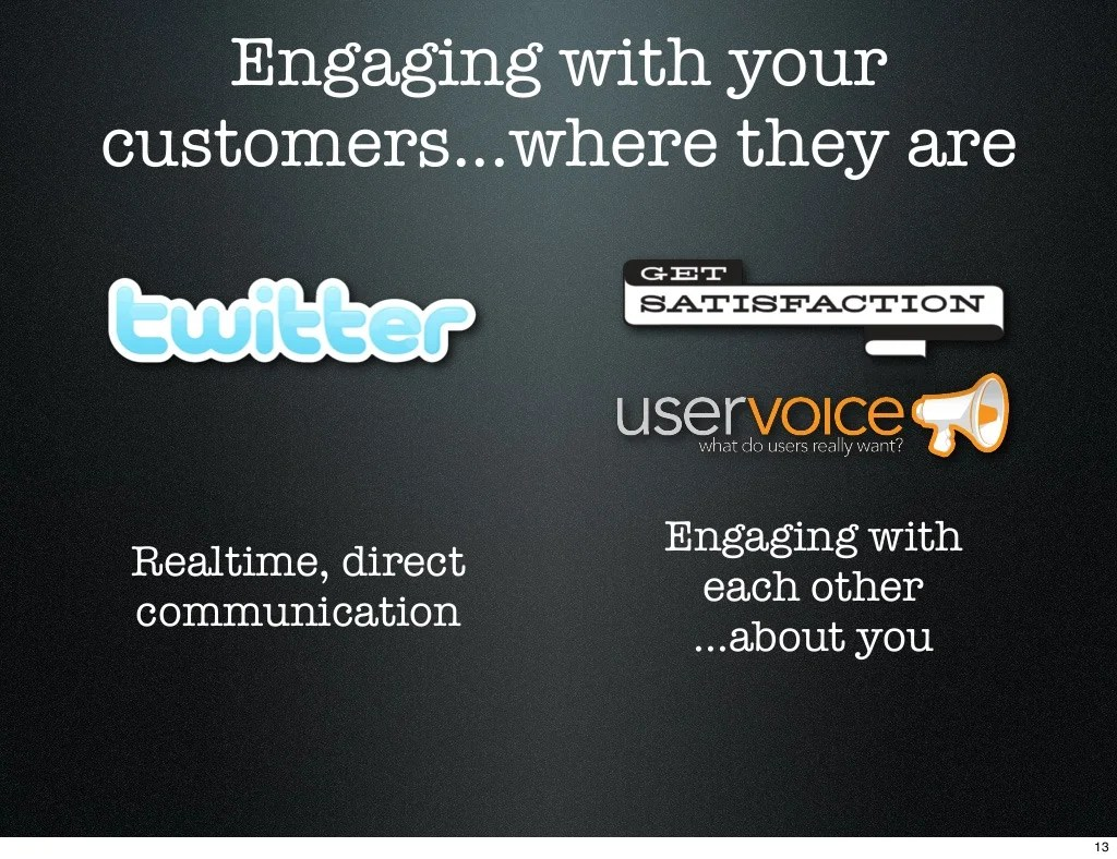 Engaging with your customers...where they