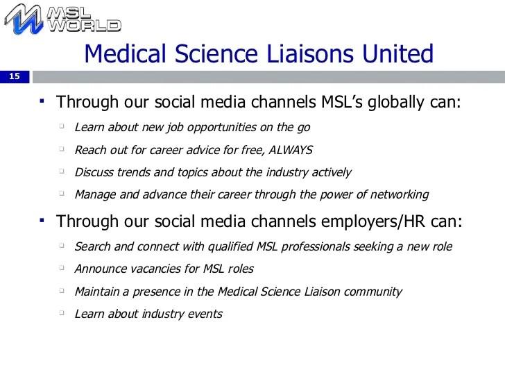 Medical Science Liaison Resume  Resume Ideas