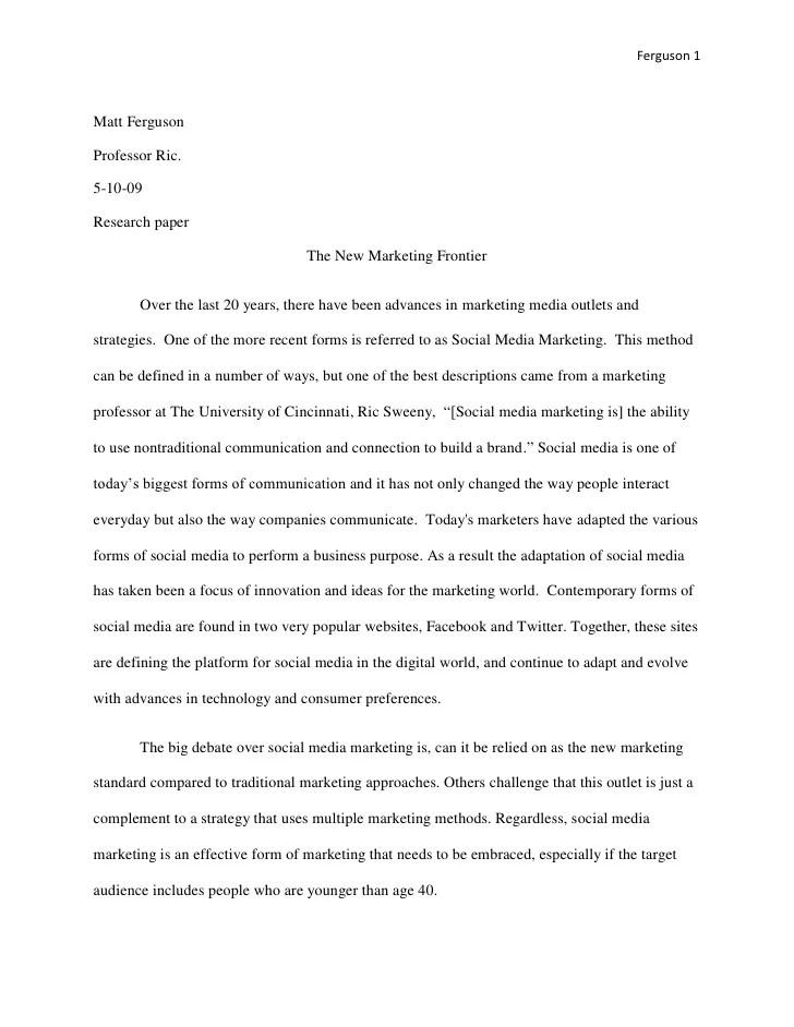 essay regarding advertising research