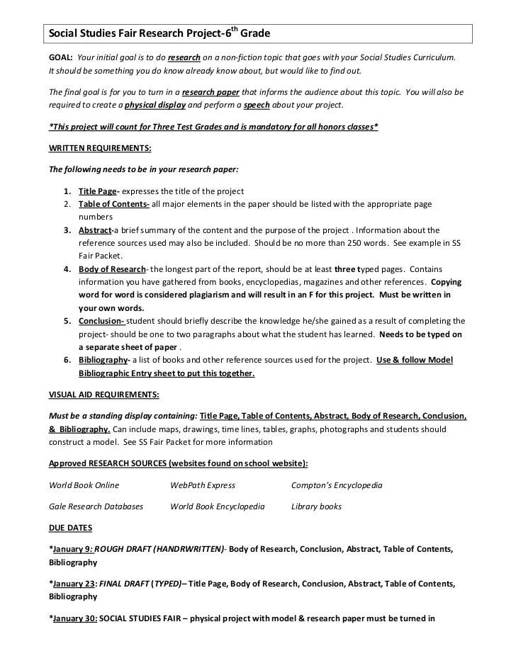 Science Fair Essay Background Research Paper Science Fair Algebra
