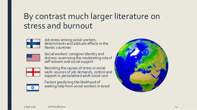 Social work effectiveness  burnout