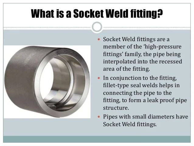 Socket weld fittings