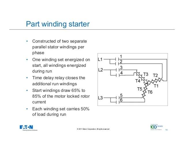 part winding start motor wiring diagram