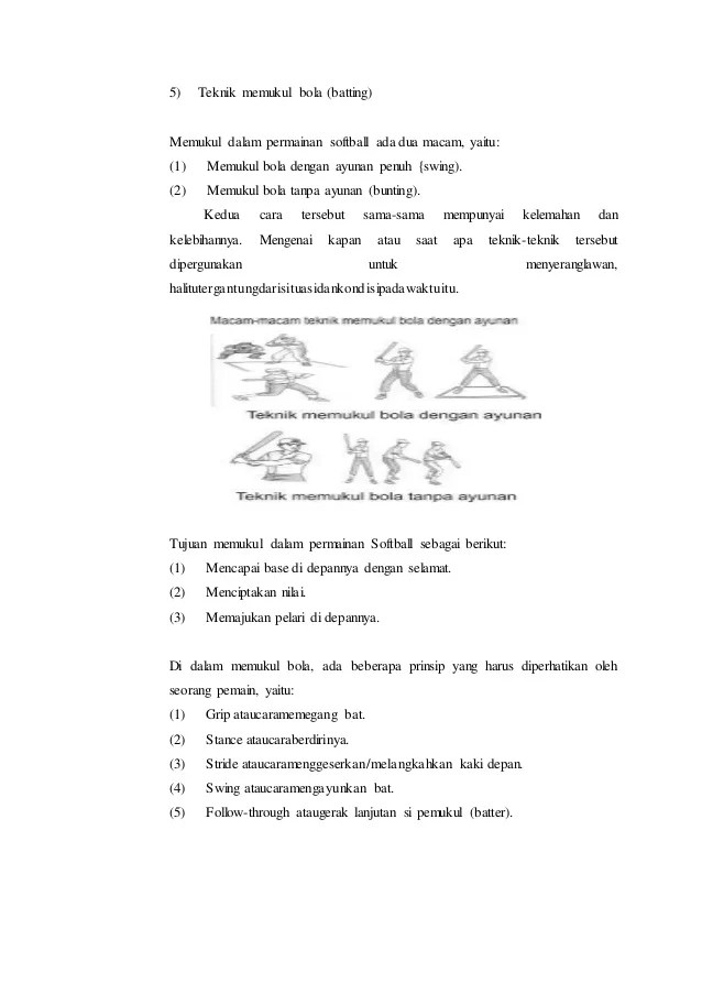 Prinsip Permainan Softball : prinsip, permainan, softball, Softball