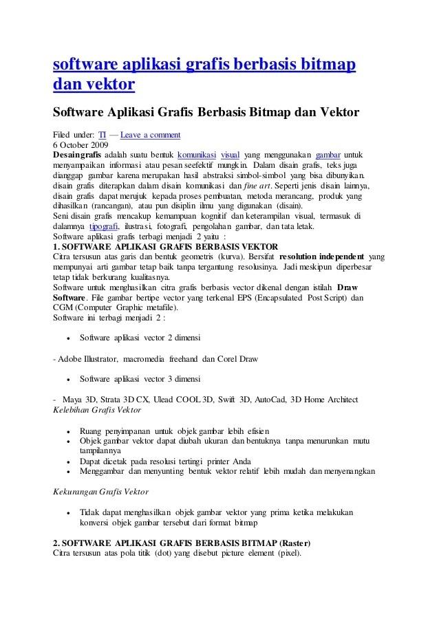 Aplikasi Bitmap Dan Vektor : aplikasi, bitmap, vektor, Software, Aplikasi, Grafis, Berbasis, Bitmap, Vektor