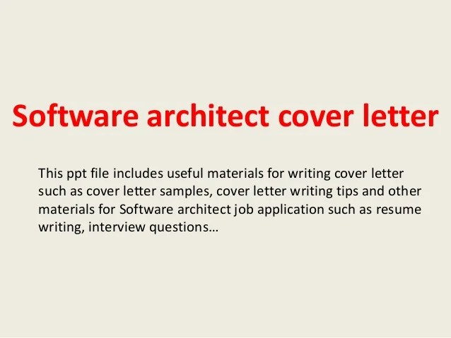cover letter software architect