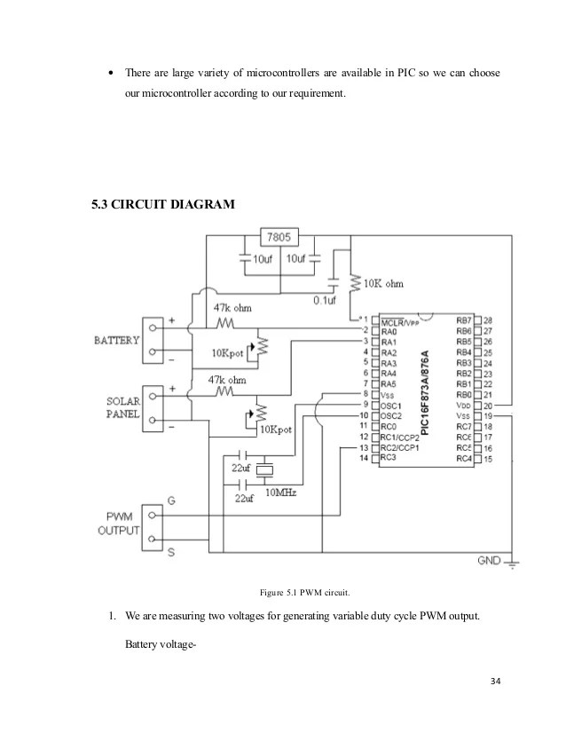 pwm solar charge controller circuit diagram electric trailer jack wiring 33 41