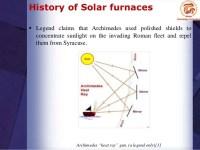 Solar furnaces presentation