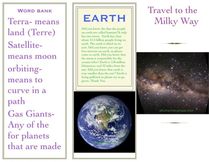 Kayla's Solar System Brochure