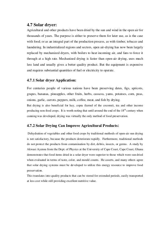 Solar Thesis Paper