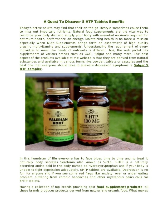 A Quest To Discover 5 HTP Tablets Benefits