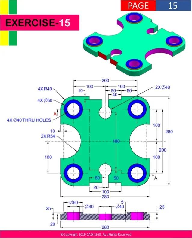 Solidworks Practice Parts : solidworks, practice, parts, Solidworks, Practice, Exercises