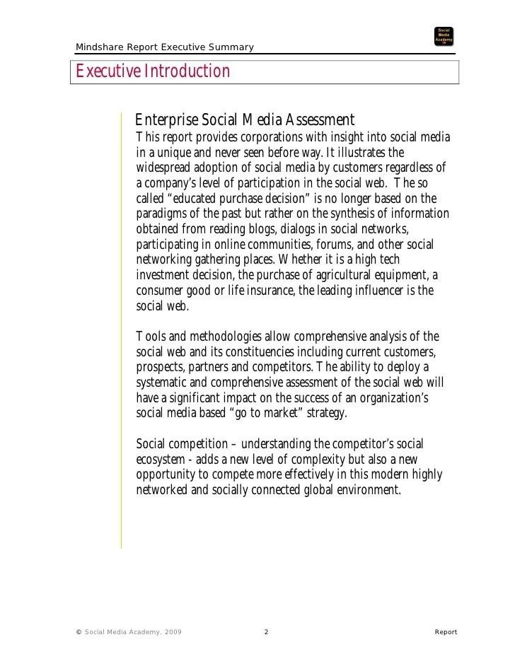 Examples Of Executive Summary Reports Baskan Idai Co