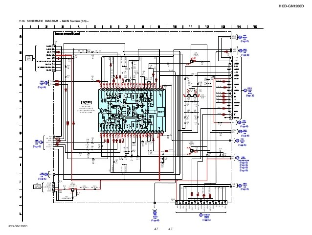 1200 Amp Wiring Diagram For Sony Sony Hcd Gn1200d Sm