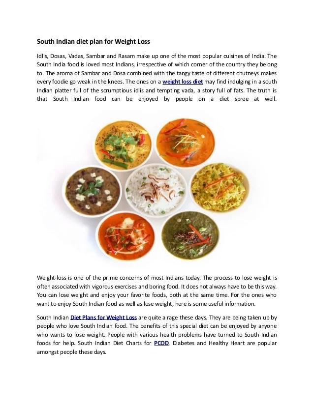 South indian diet plan for weight loss idlis dosas vadas sambar and rasam also rh slideshare
