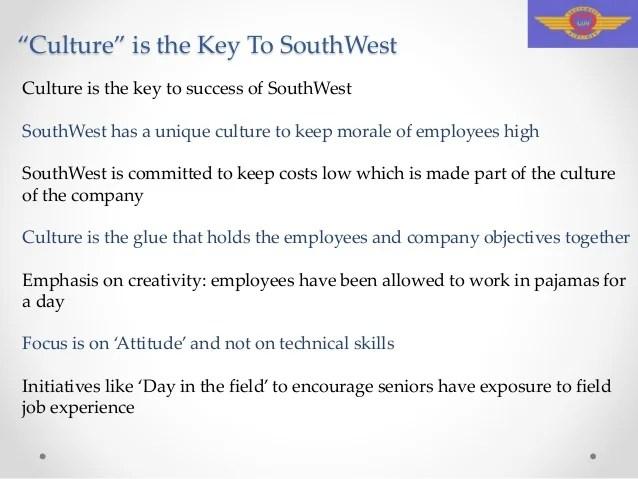 Success Secret Southwest airlines