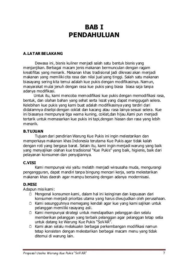 Proposal Makanan Khas Daerah : proposal, makanan, daerah, Proposal, Usaha, Pukis