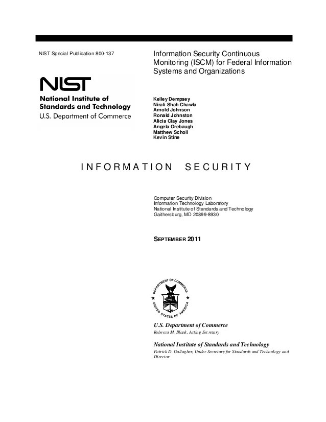 Nist Information Security Policy