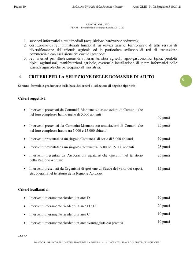 Regione Abruzzo_BURA_Speciale 72 05_10