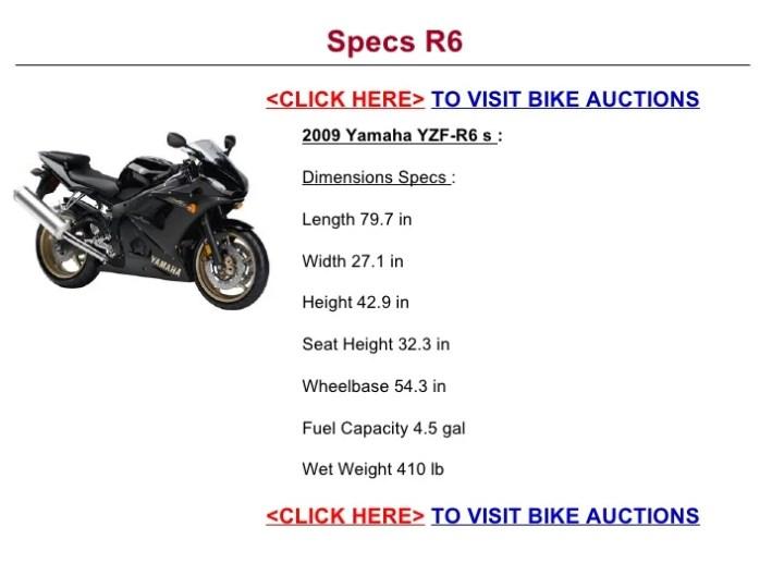 Yamaha R6 Motorcycle Specs | Newmotorwall.org