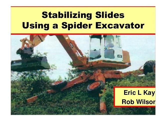spider excavator contour drainage