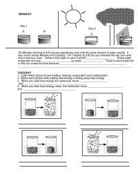 States of matter (worksheet)