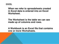 An Excel File That Contains One Or More Worksheets - Kidz ...