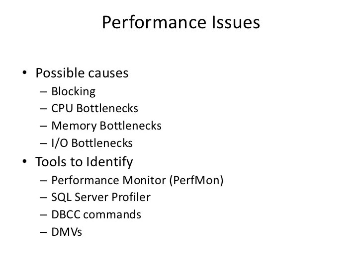 Frequently Used Dmvs Sql Server