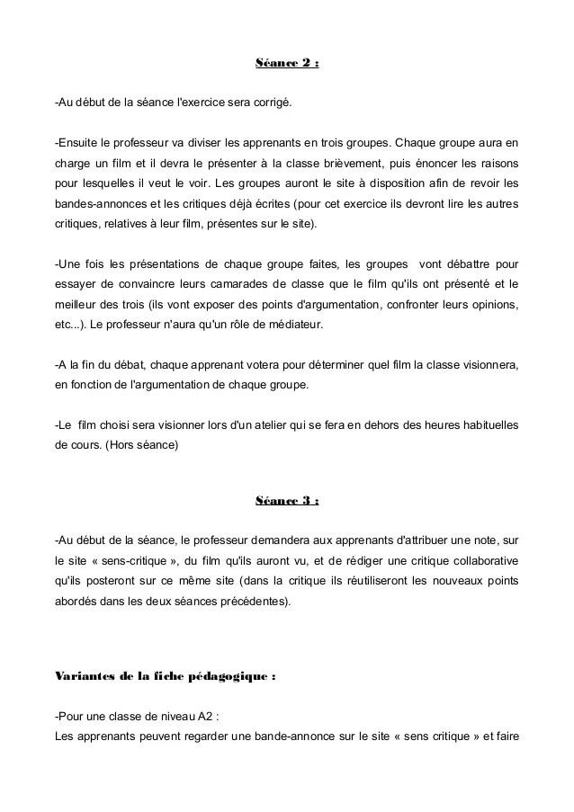 Rédiger Une Critique De Film : rédiger, critique, Séquence, Cinema, Critique