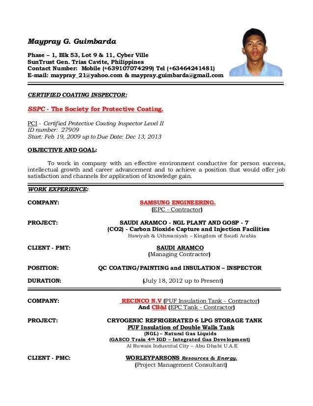 qc resume example