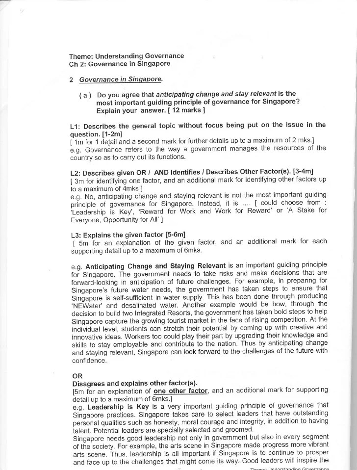 S S Structured Essay Booklet