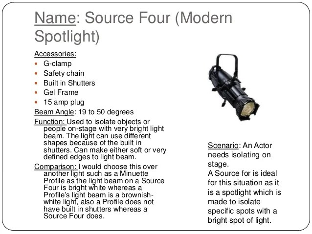 Stage lighting powerpoint