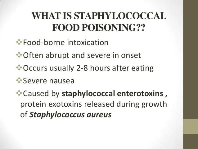Rapid Onset Food Poisoning