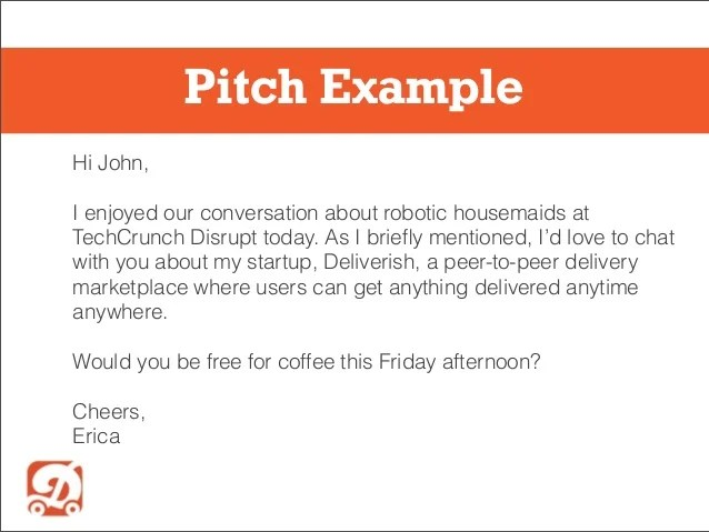 Sales pitch examples pitch example hi john