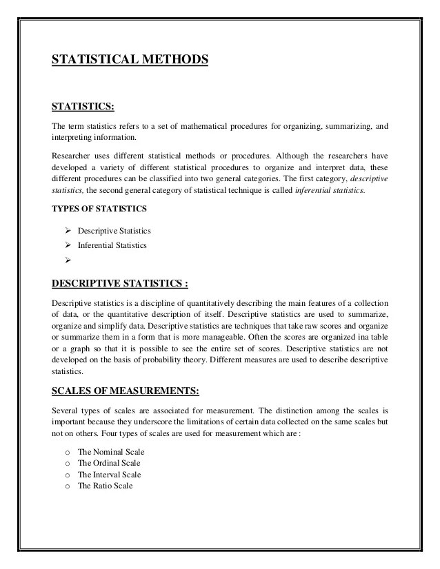Descriptive Statistics Essay Research Paper Service