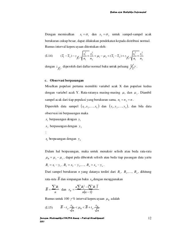 Contoh soal statistika kuliah semester 3. Contoh Soal Statistik Inferensial Dan Penyelesaiannya Sedang
