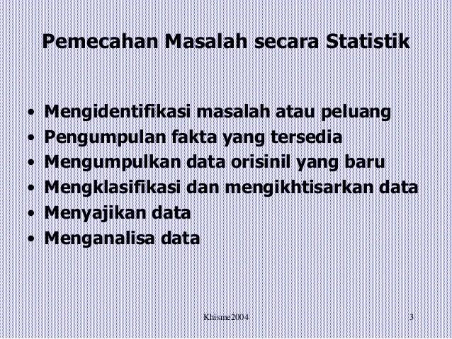 Classification dan analisa klasifikasi berdasarkan data statistika. Statistik Dan Analisa K3