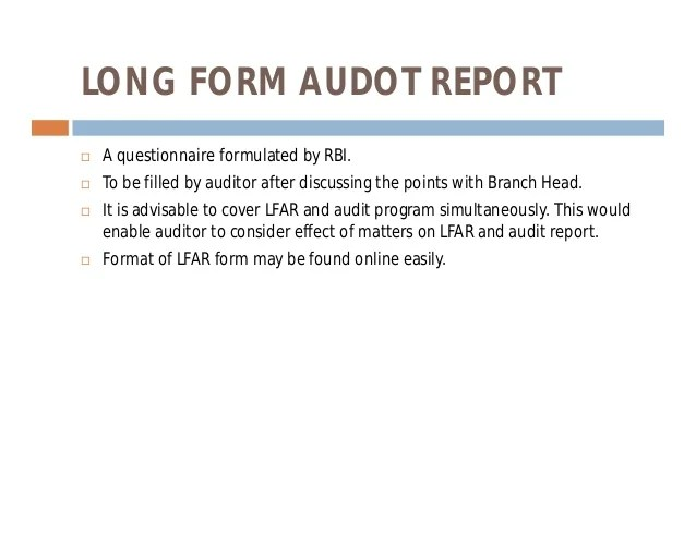 Statutory Bank Branch Audit