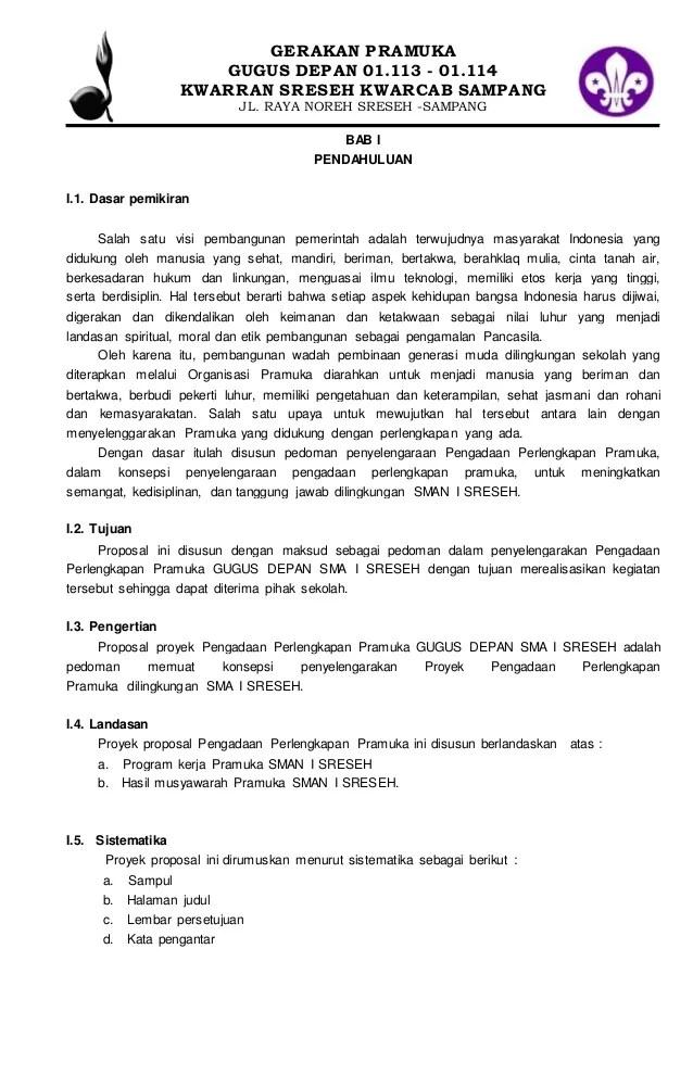 Proposal Persami (Perkemahan Sabtu Minggu - HALO PRAMUKA