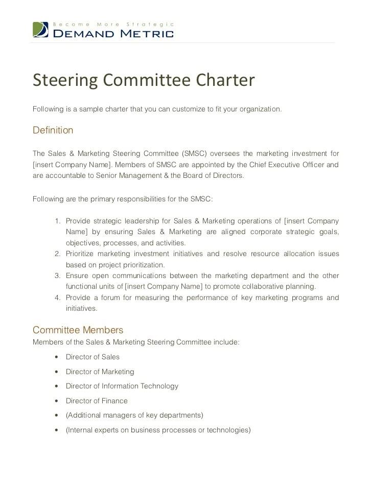 also steering committee charter template rh slideshare