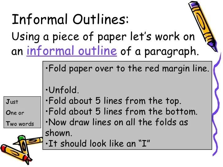 informal paper outline