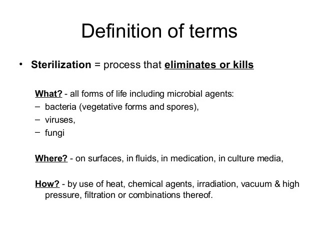 Sterilisation and disinfection general aspects and ...