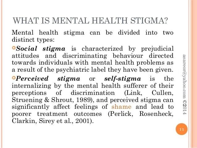 Stigma and mental illness
