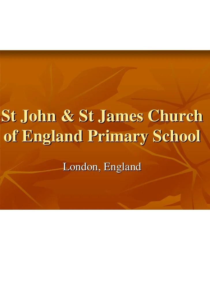 St john  st jmes ce primary school london