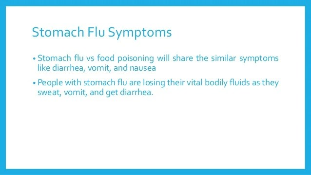 Stomach Flu vs Food Poisoning