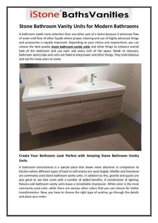 Stone Bathroom Vanity Units For Modern Bathrooms